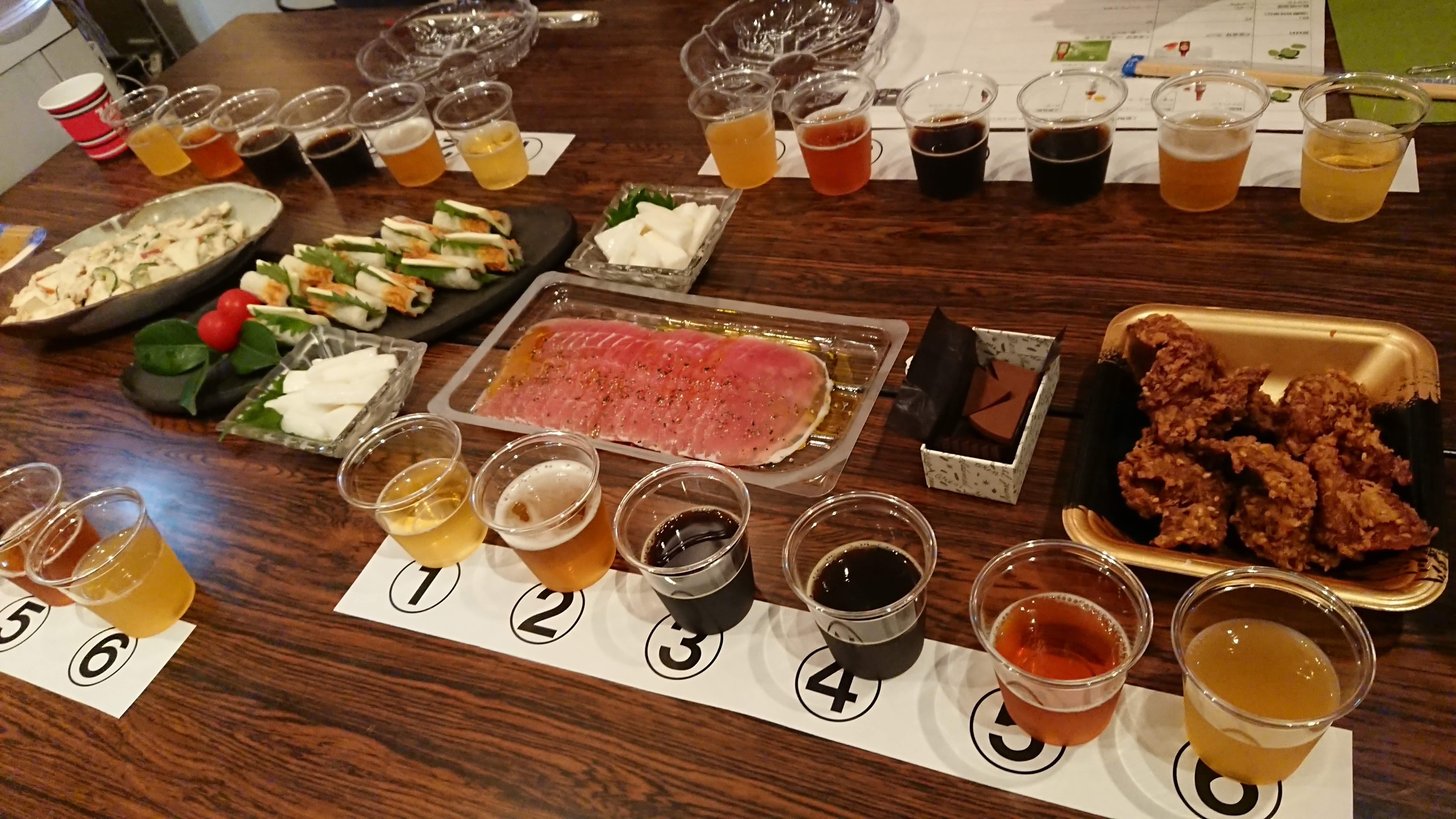 6種のクラフトビールとおつまみ